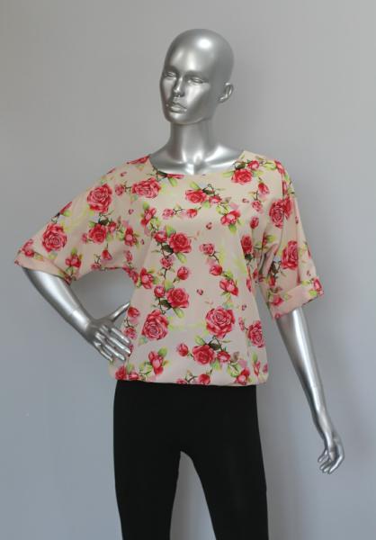 Фото Блузы Блуза A36.1 Розы на персике