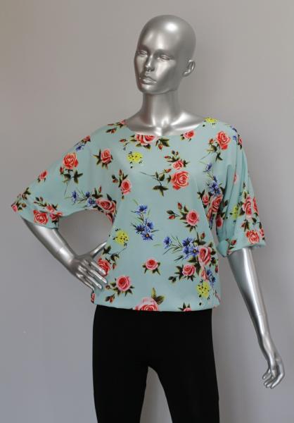 Фото Блузы Блуза A36.1 Розочки на мяте
