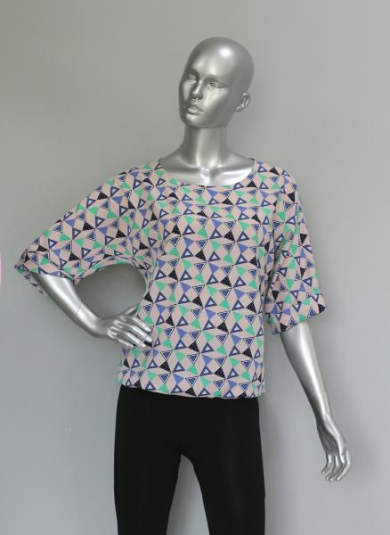 Блуза A36.1 Ромб/персик