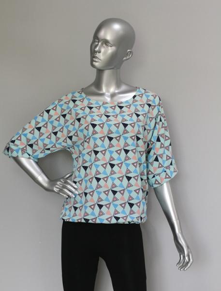 Фото Блузы Блуза A36.1 Ромб/Мята