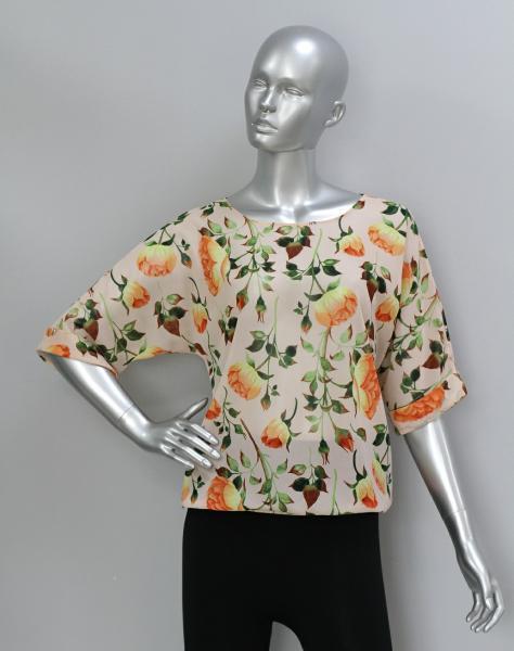 Фото Блузы Блуза A36.1 Пионы/персик
