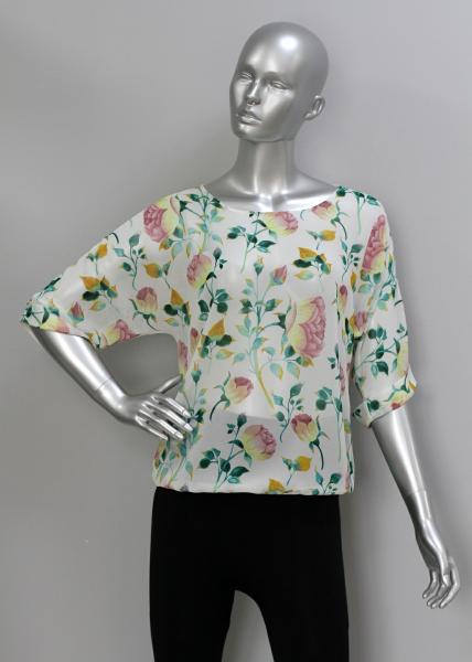 Фото Блузы Блуза A36.1 Пионы/крем