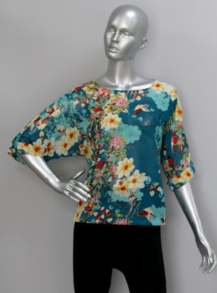 Фото Блузы Блуза A36.1 Изумрудный сад