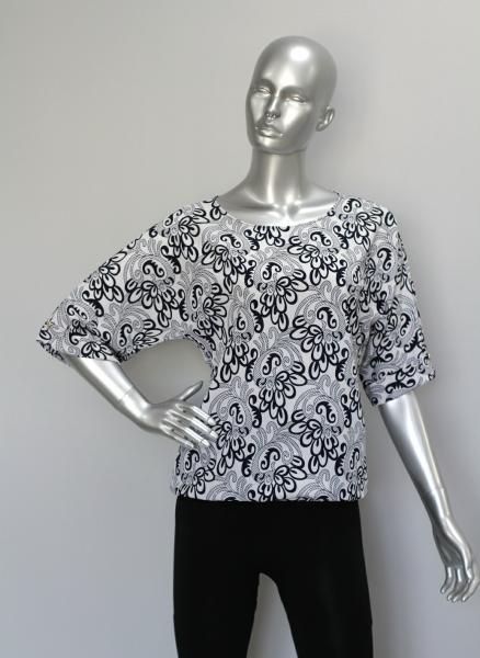 Фото Блузы Блуза A36.1 Белый орнамент