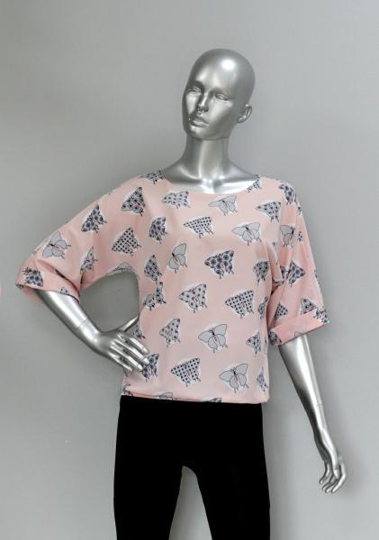 Фото Блузы Блуза A36.1 Бабочки/Персик
