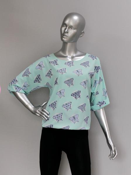 Фото Блузы Блуза A36.1 Бабочки/Мята