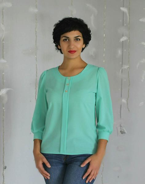 Фото Блузы Блуза А14.1 однотонные
