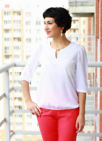 Фото Блузы Блуза A10 Однотонные