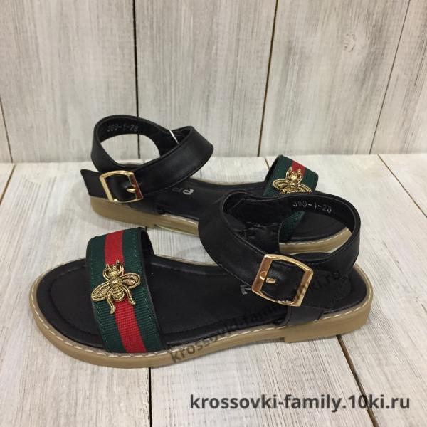Фото Детская обувь Летние босоножки черные