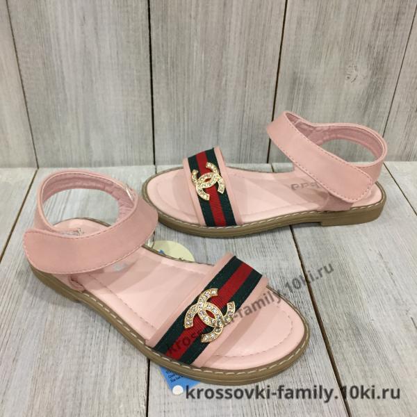 Фото Детская обувь Летние босоножки розовые