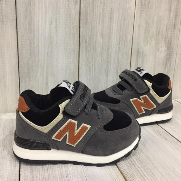 Кроссовки детские New Balance серые с коричневым