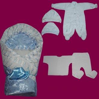 Фото Швейные изделия (Наборы для выписки, пеленки ит.д., Наборы на выписку (собственное производство) Набор для выписки №010