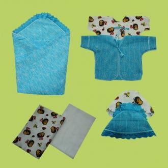 Фото Швейные изделия (Наборы для выписки, пеленки ит.д., Наборы на выписку (собственное производство) Комплект для новорожденных №11 ЭМИР (8 предметов)