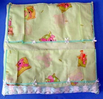Фото Швейные изделия (Наборы для выписки, пеленки ит.д., Постельные принадлежности (собственное производство) Карман на кроватку 001