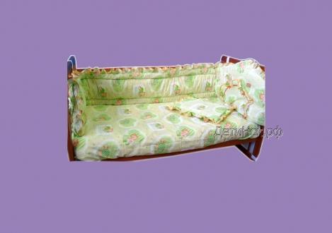 Фото Швейные изделия (Наборы для выписки, пеленки ит.д., Комплекты в кроватку (собтсвенное производство) Комплект 3-х предметный в кроватку