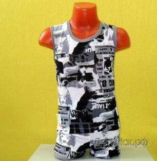 Фото Комплекты (Майка+трусы, футболка+шорты, кофточка +ползунки), Комплекты трикотажные (собственное производство) Комплект майка+трусы(Ш) ПК001