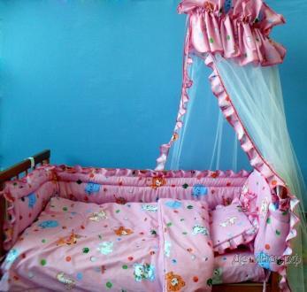 Фото Швейные изделия (Наборы для выписки, пеленки ит.д., Комплекты в кроватку (собтсвенное производство) Комплект 6-и предметный в кроватку