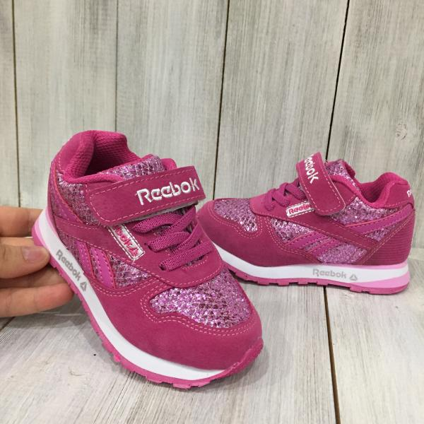 Кроссовки детские Reebok  ярко-розовые