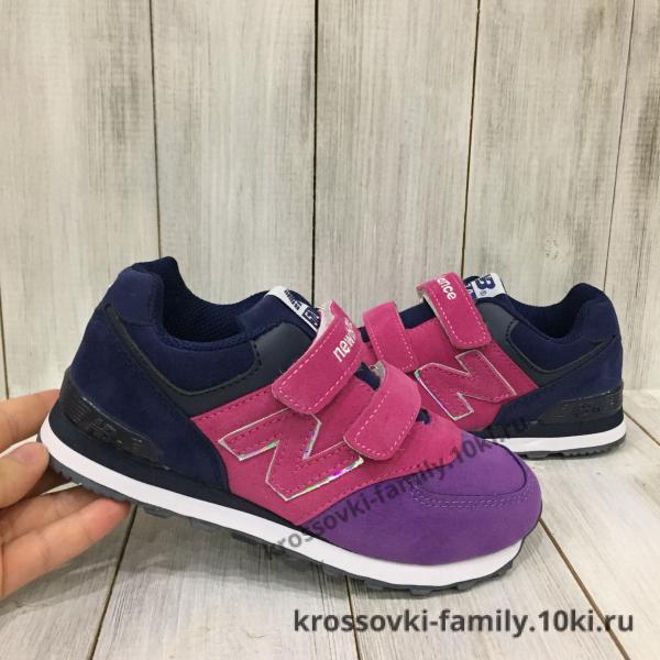 Фото Детские кроссовки Кроссовки детские New Balance фиолетовые
