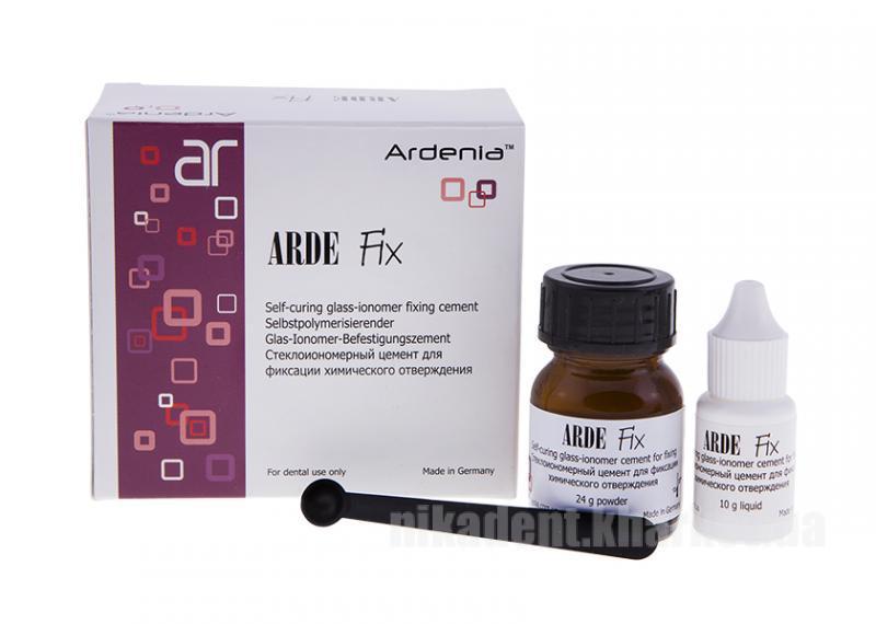 Фото Для стоматологических клиник, Материалы, Цементы Arde Fix (Арде Фікс) 24г порошок + 10 г жидкость Ardenia