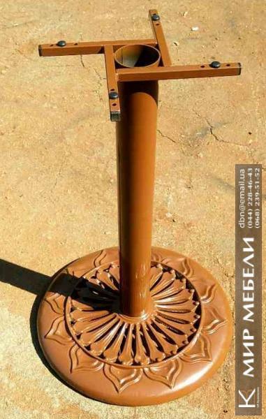 Фото  Опора для стола Сполето. Основание для стола. Подстолье из чугуна. Основа для стола. База для стола.