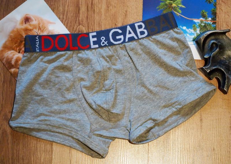 Трусы боксеры Dolce & Gabbana серого цвета