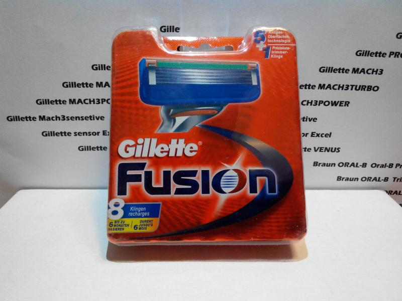 Лезвия Gillette Fusion 8 шт. Колумбия