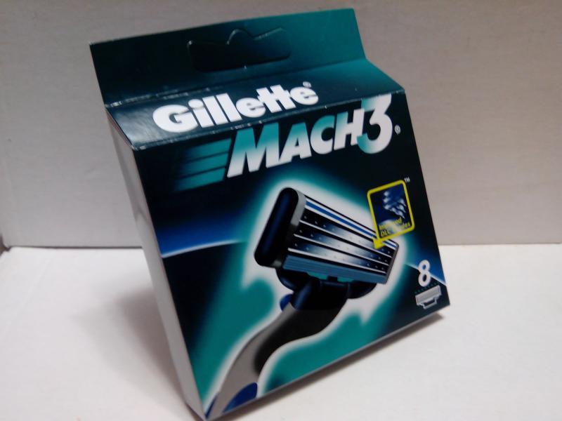 Оригинальные картриджи Gillette Mach 3 8шт
