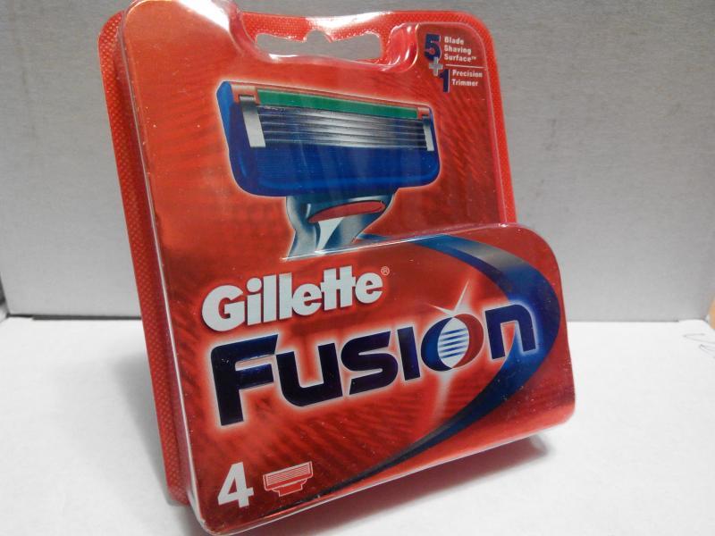 Оригинальные Картридж Gillette Fusion лезвия 4 шт
