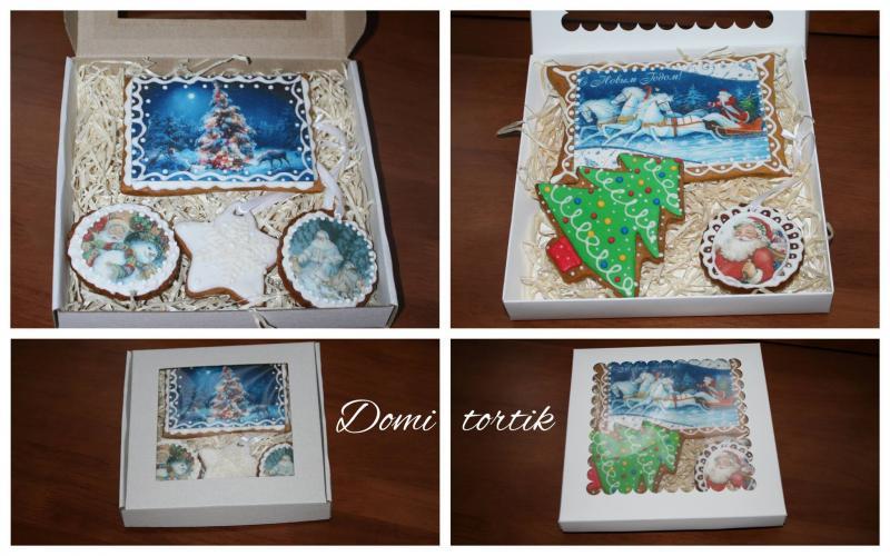 Пряник Новогодняя (Рождественская) открытка
