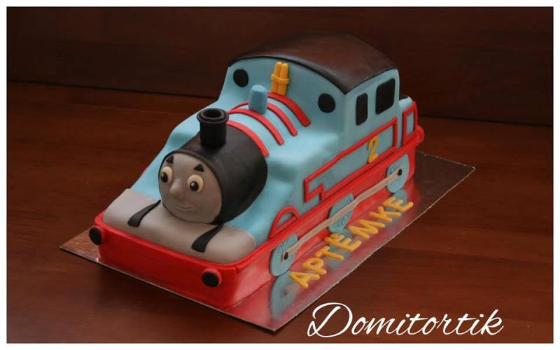 Торт паровозик Томас (3D торт)