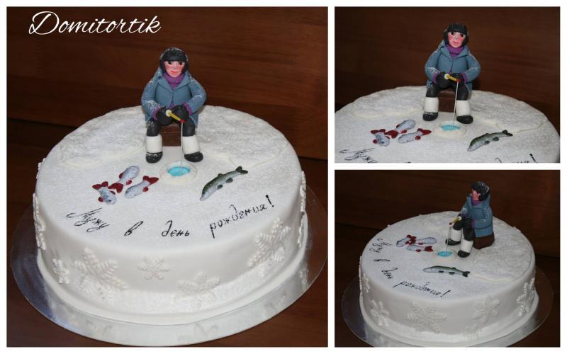 Торт Зимняя рыбалка