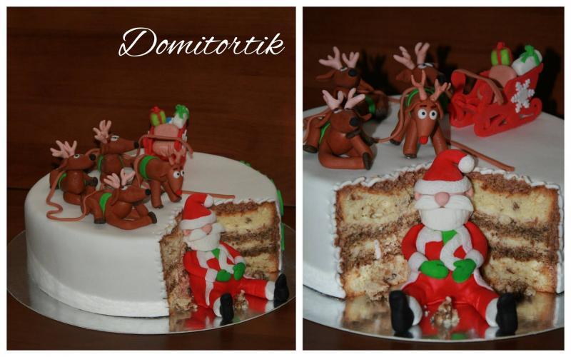 Торт Дед мороз, олени (Новый год)