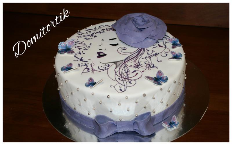 Торт Девушка (рисунок)