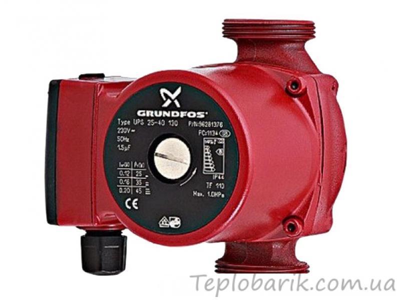 Фото Насосное оборудование, Циркуляционные насосы Циркуляционный насос Grundfos UPS 25*40*130 (Китай) Гарантия 3 месяца