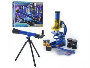 Фото  Детский игровой набор Микроскоп и телескоп