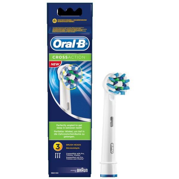 Оригинальные насадки на зубную счетку Oral-B CrossAction 3шт,