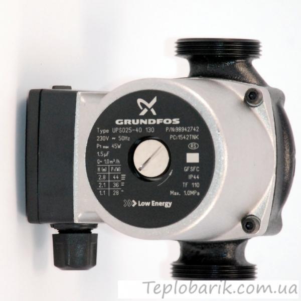 Фото Насосное оборудование, Циркуляционные насосы Циркуляционный насос керамический марки Grundfos  25-4*130