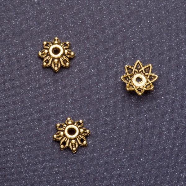 Фурнитура наконечник для бус d-8мм d1-1,5мм цвет старое золото