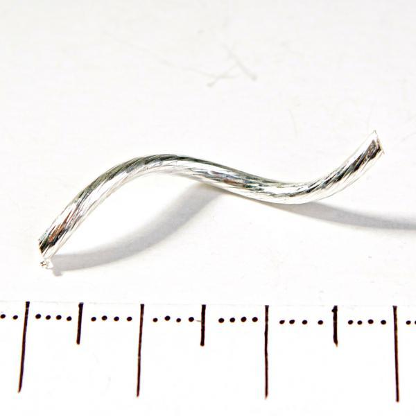 Фурнитура Вставка трубочка витая полая рефленая