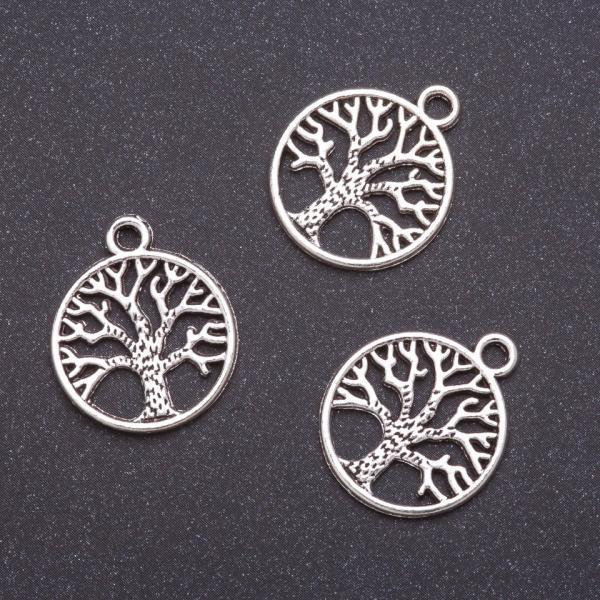 Фурнитура подвеска Дерево жизни  b-19мм d-2мм L -23мм серый металл