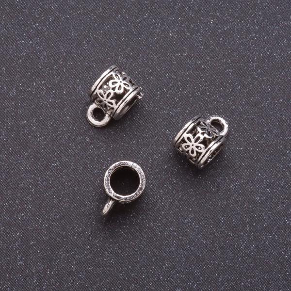 Фурнитура бейл пандора  b-7мм d-4мм L-11мм серый металл
