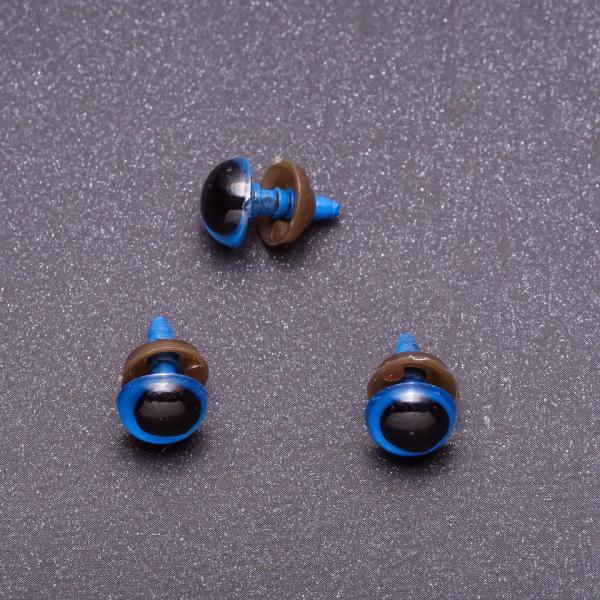 """Фурнитура """"Живые глазки"""" пара цвет синий d-8мм"""