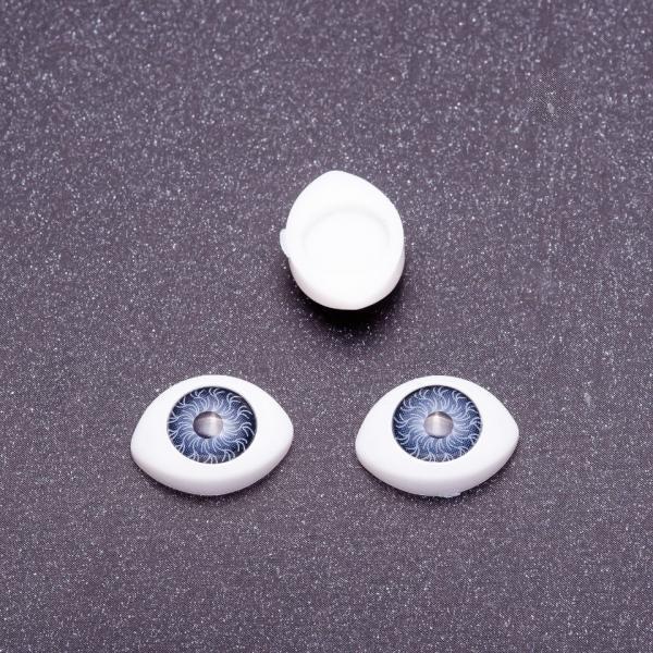 "Фурнитура ""Живые глазки"" пара цвет серый d-8х12мм"