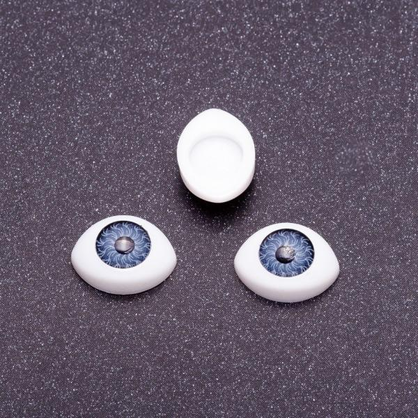 "Фурнитура ""Живые глазки"" пара цвет серый d-10х14мм"