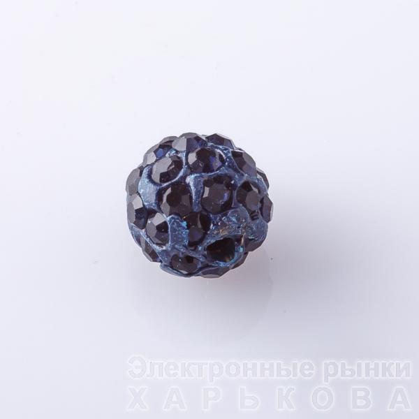 Бусина Шамбала d-10мм Темносиняя - Колье, ожерелья, бусы, чокеры на рынке Барабашова