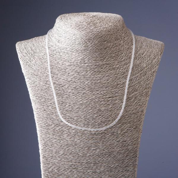 """Шнур на шею силиконовый прозрачный """"невидимка"""" L-60см s-2мм"""