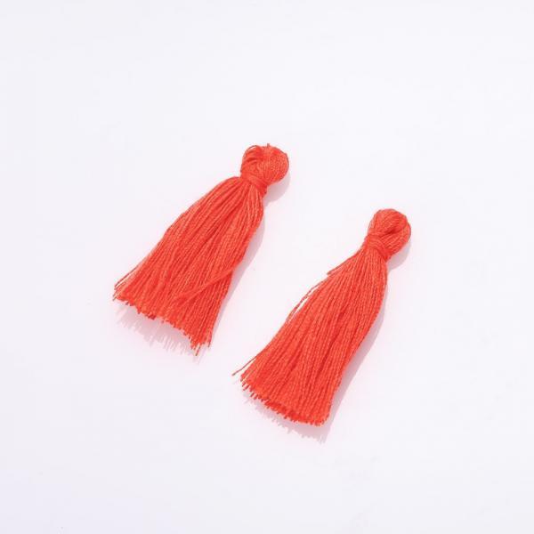 Заготовка для рукоделия Кисть Мини оранж коттон L-3см d-4мм цена за 1 шт.