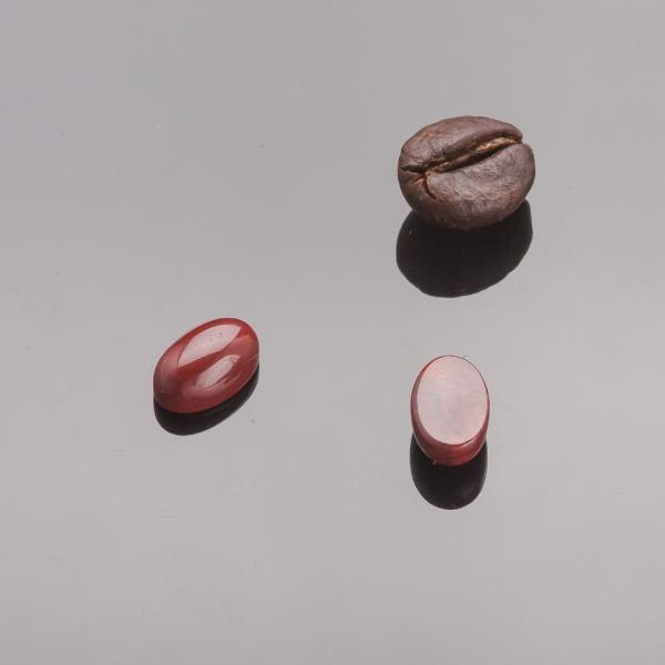 Фурнитура Кабошон мини овал яшма красная  d-8х5мм