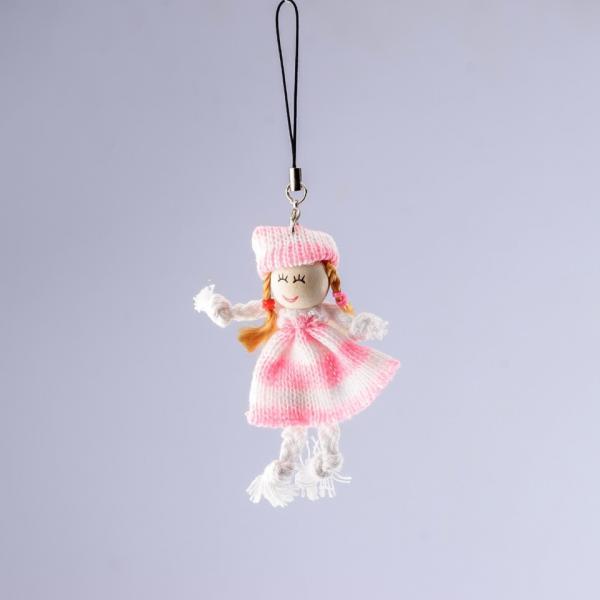 Брелок детский Девочка вязаное платье